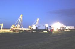 Аварийный газопровод запущен в работу