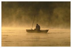 На Волге утонул рыбак
