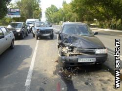 Столкнулись 3 автомобиля, есть пострадавший