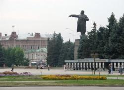 На Театральной площади - презентации трех районов