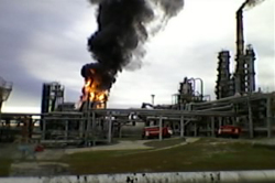 Пожар на СНПЗ. Завод приостановил свою работу