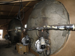В промзоне найдено оборудование для нефтепереработки