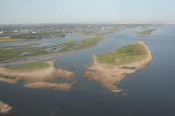 Саратовское водохранилище мелеет