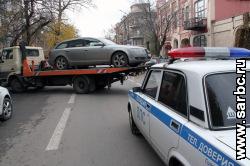 Эвакуирован автомобиль с литовскими номерами, перекрывший выезд из прокуратуры