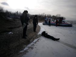 На Волге найден вмерзший в лед труп