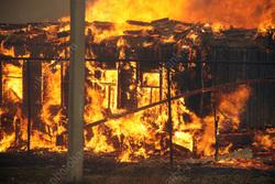 При пожаре в деревянном доме погиб мужчина