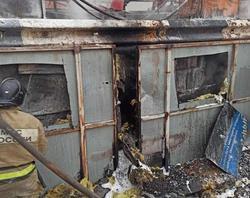 Произошел пожар на асфальтовом заводе