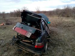 Водитель съехал на десятке в кювет и погиб