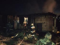 На пожаре в частном доме погибли женщина и двое детей