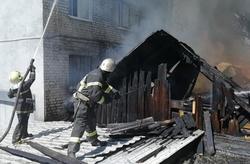 На тушение пожара в центре города приехали 12 расчетов