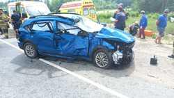 В столкновении Киа и фуры на трассе пострадали четверо
