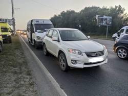 Пассажирка маршрутки попала в больницу после ДТП