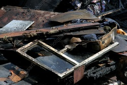 На пожаре в доме-памятнике пострадал 100-летний мужчина