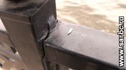 Комитет отчитался о ремонте перил на новой набережной