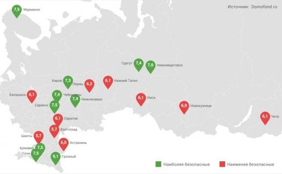 Шахты вошел вчисло самых рискованных городов Российской Федерации