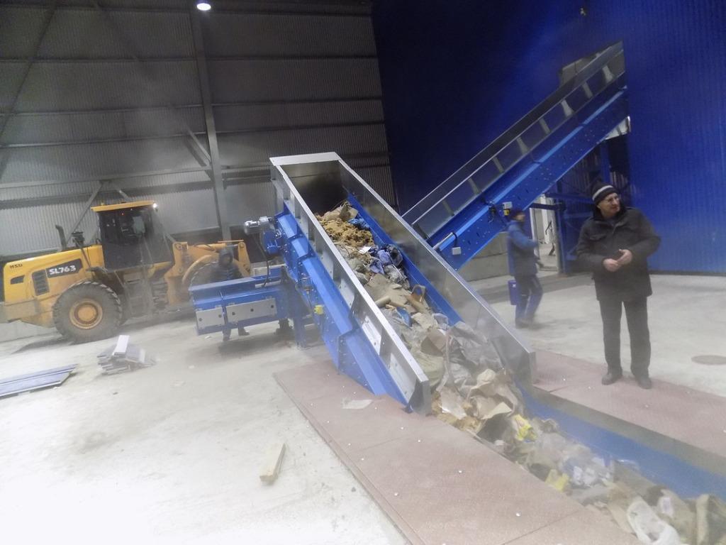 Состоялся запуск конвейера балаковского комплекса попереработке мусора