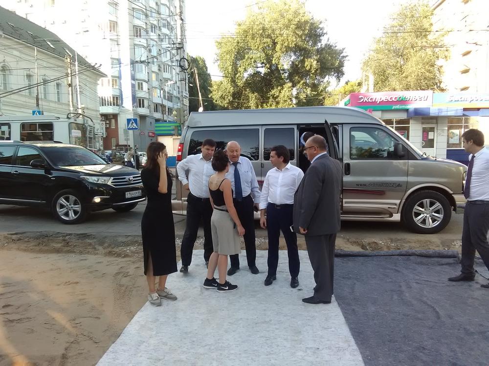 Андрей Чибис осмотрел реконструкцию проспекта наРахова