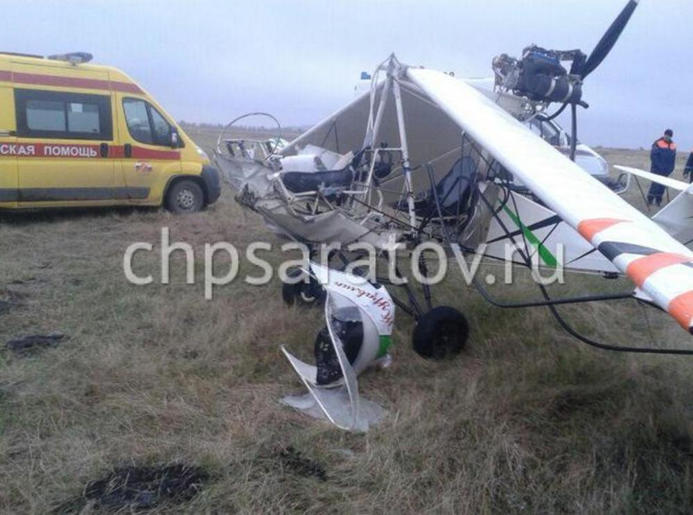 ЧПвДубках: планер развалился при взлете, пострадавший госпитализирован