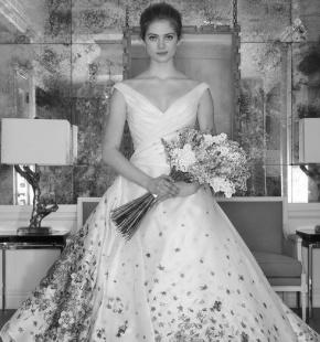Свадебная мода весна-лето 2017. Цветочная вышивка и пыльные оттенки